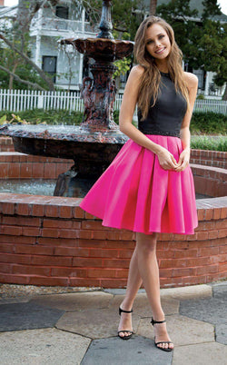 Colors Dress 1750 Black/Fuchsia
