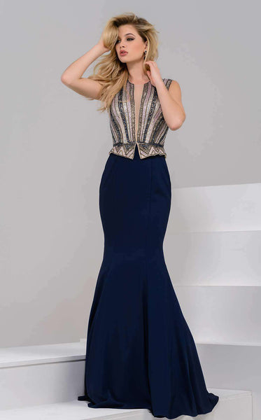 Jovani 41436 Navy/Multi