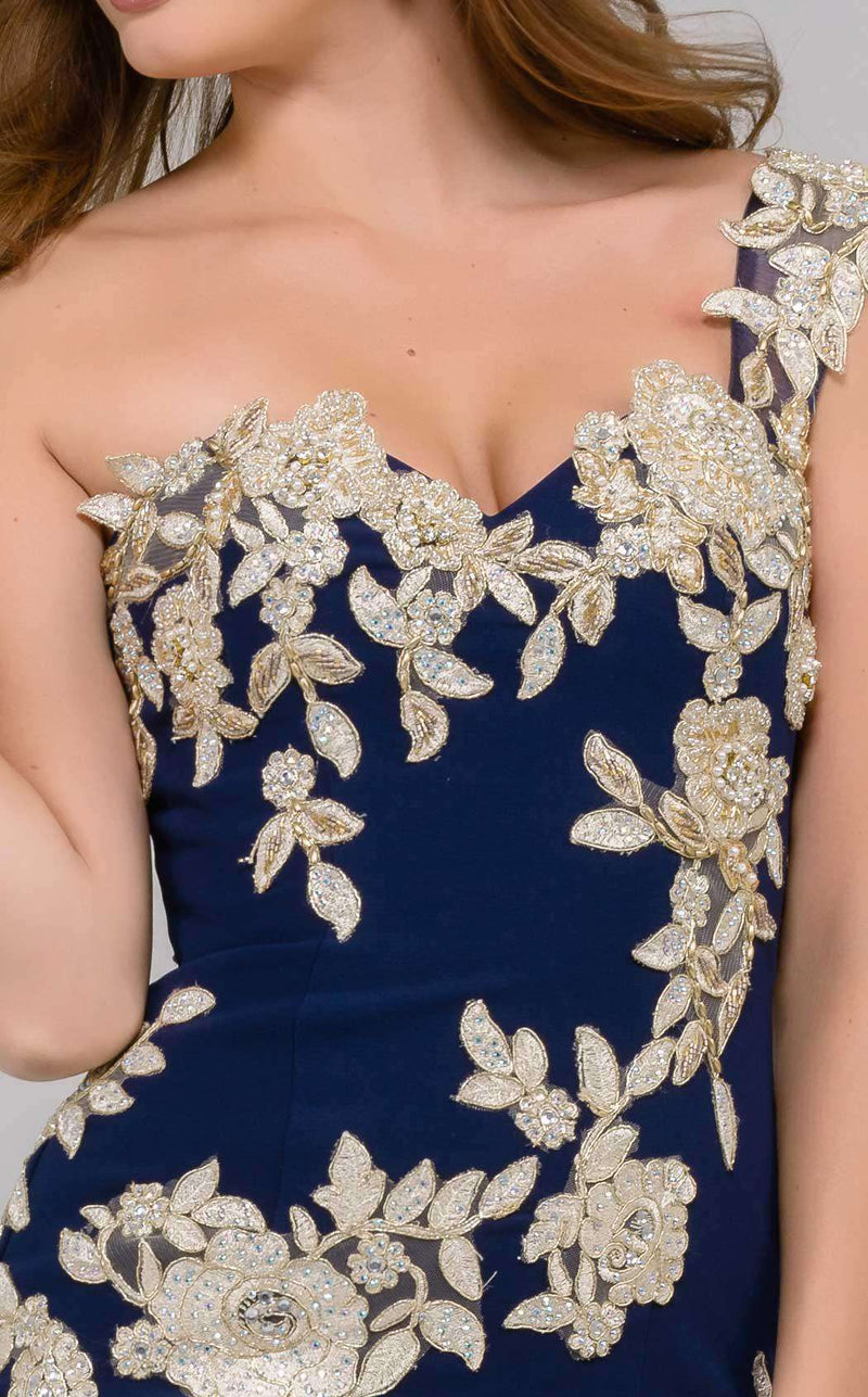 Jovani 41713 Navy/Gold