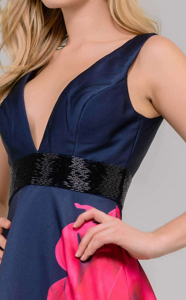 Jovani 48460 Navy/Red