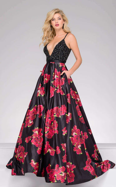 Jovani 47419 Black/Multi