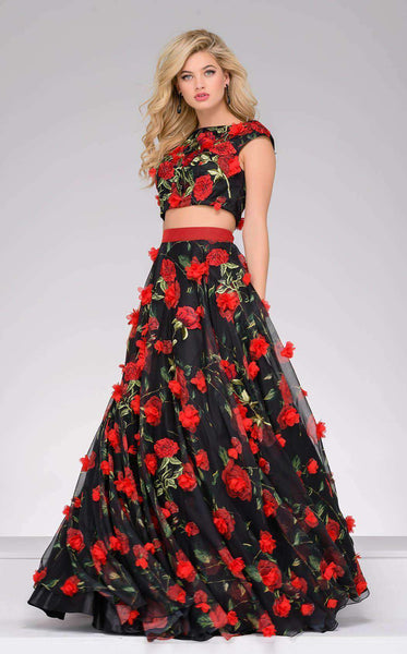 Jovani 48424 Red/Black