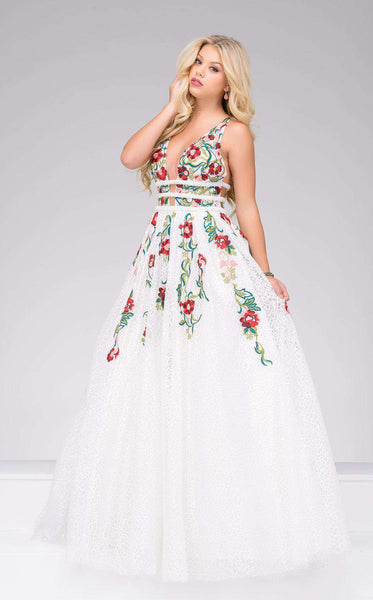 Jovani 48891 Off White/Multi