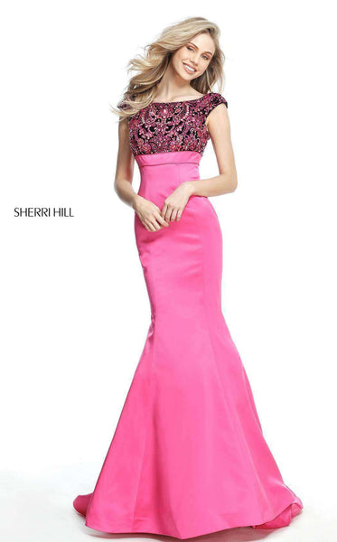 Sherri Hill 51373 Black/Fuchsia