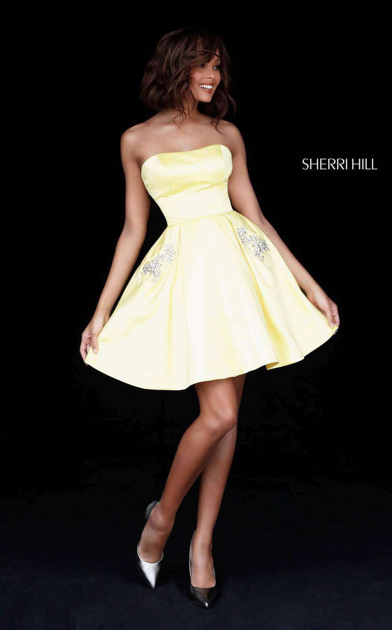 Sherri Hill 51390 Yellow