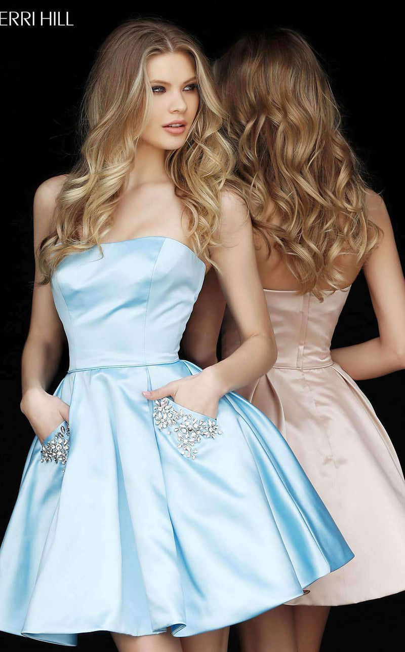 Sherri Hill 51390 Light Blue