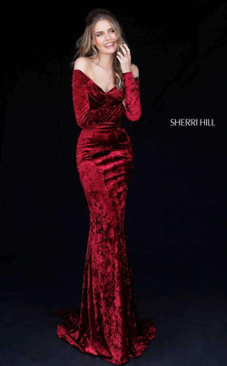 Sherri Hill 51405 Dark Red