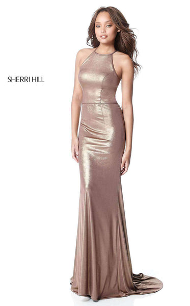 Sherri Hill 51428 Coffee/Gold