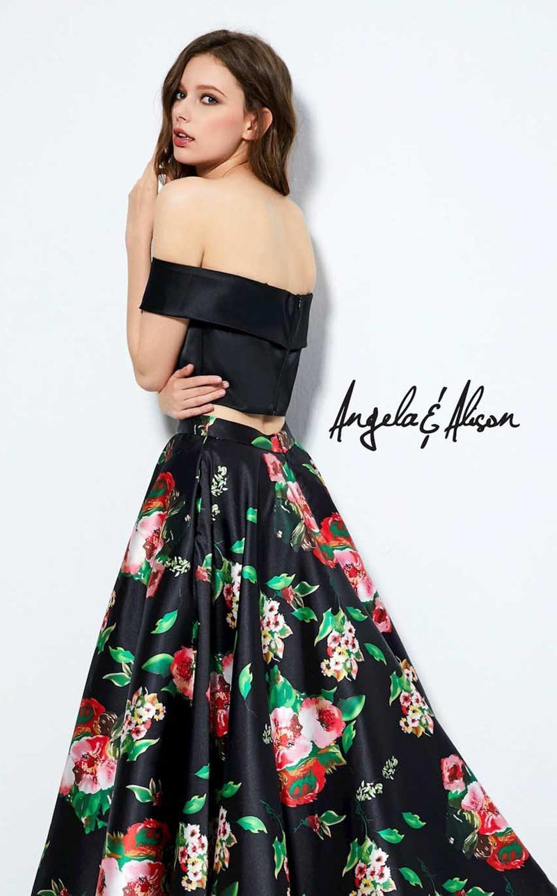 Angela and Alison 81120 Black-Floral