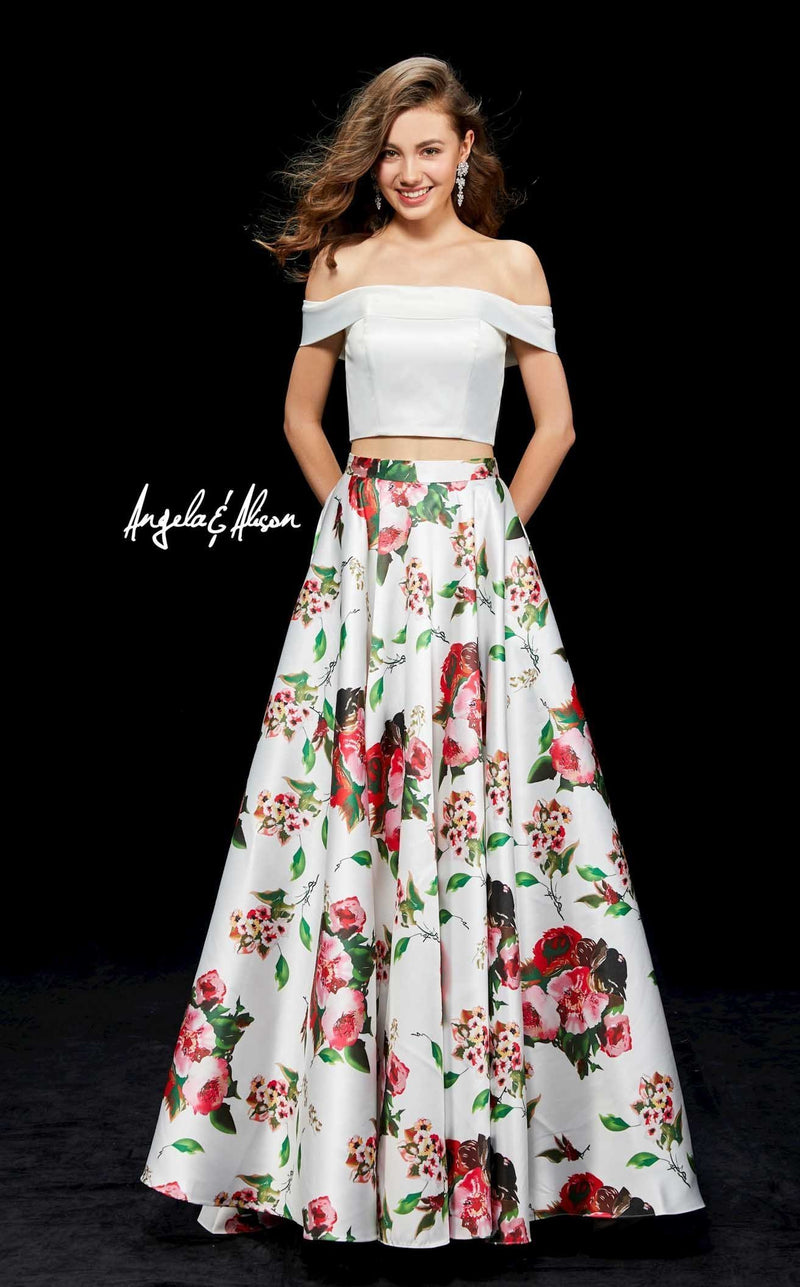 Angela and Alison 81120 Ivory-Floral