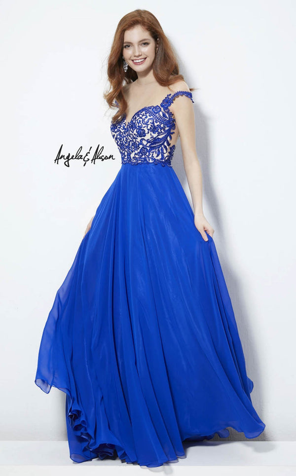 Angela and Alison 81124 Royal-Blue