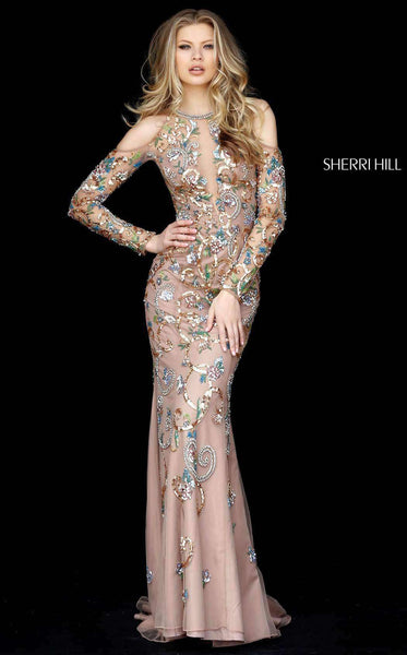 Sherri Hill 51486 Dark Nude/Multi