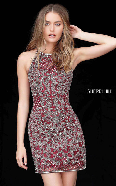 Sherri Hill 51501 Burgundy