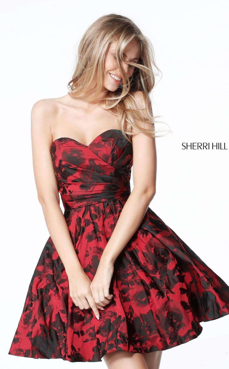 Sherri Hill 51502 Red/Black