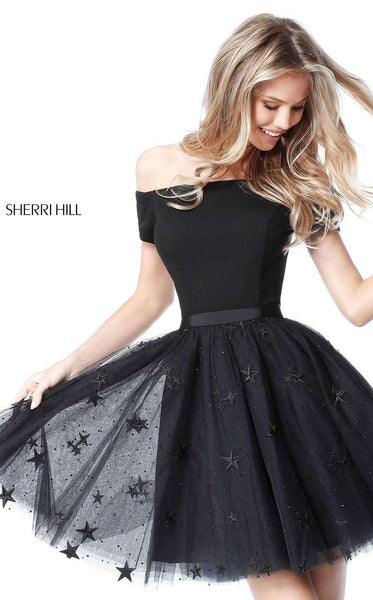 Sherri Hill 51505 Black/Black