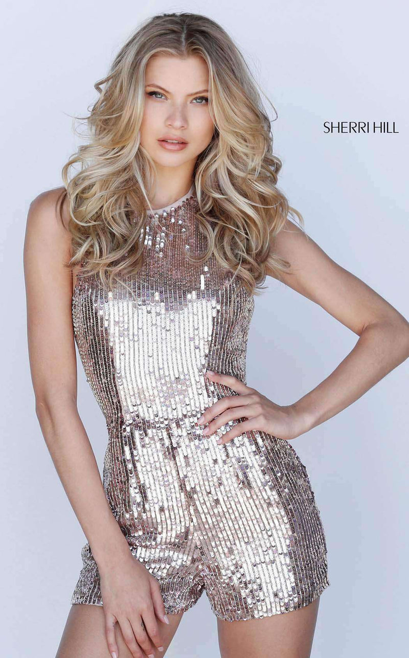 Sherri Hill 51513 Rose Gold