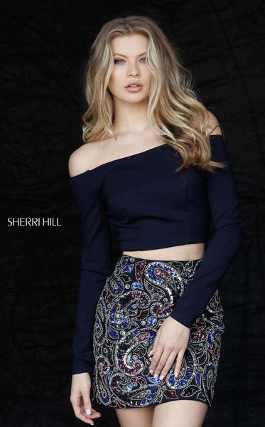 Sherri Hill 51323 Navy/Multi