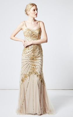 Faust 816 Dress Gold