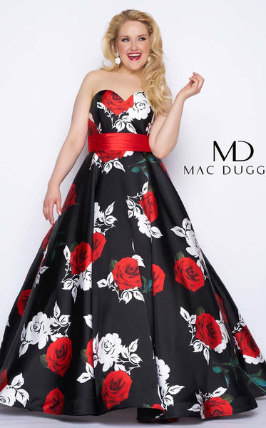 Mac Duggal 77192F Rose