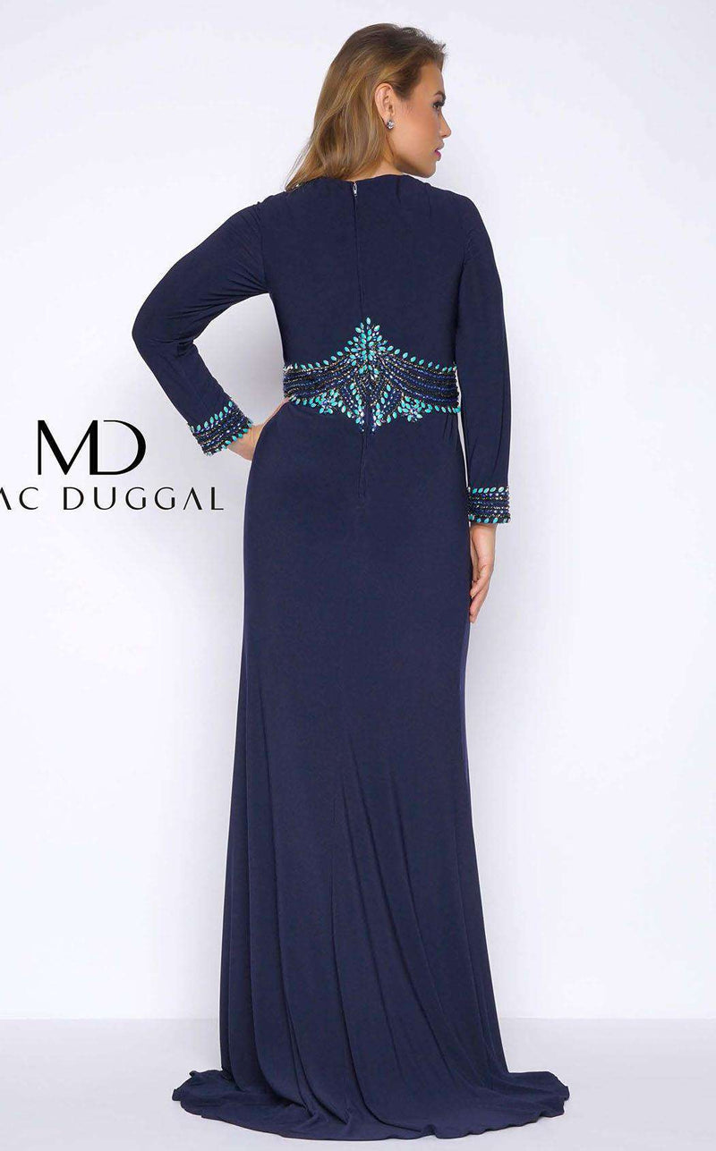 Mac Duggal 77210F Navy/Multi