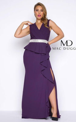 Mac Duggal 85520F Deep Purple