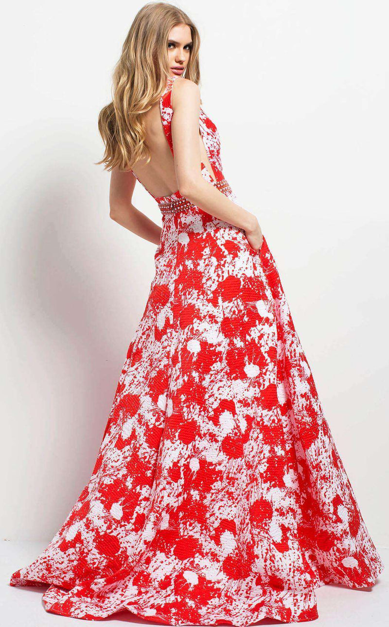 Jovani 48338 Red/White