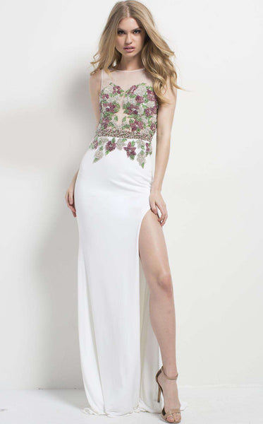 Jovani 49387 Off White/Multi