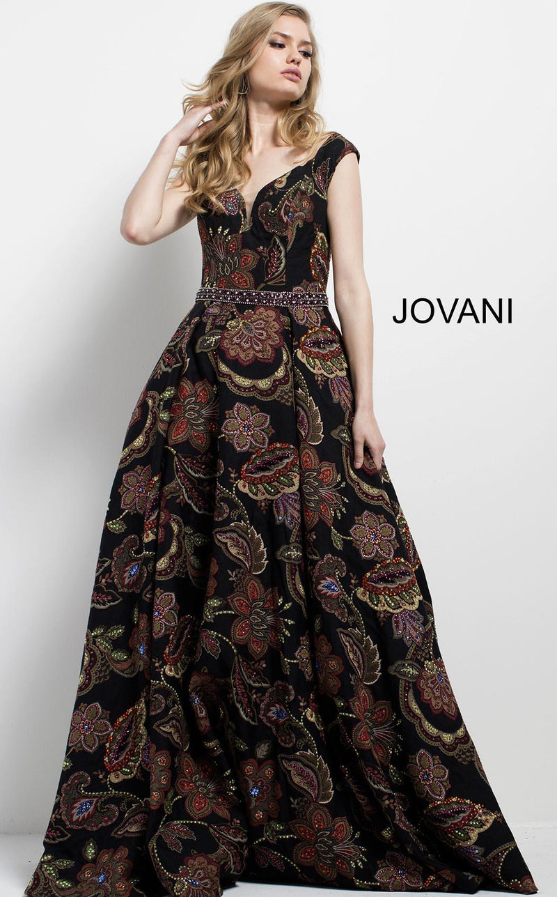Jovani 49981 Black/Multi