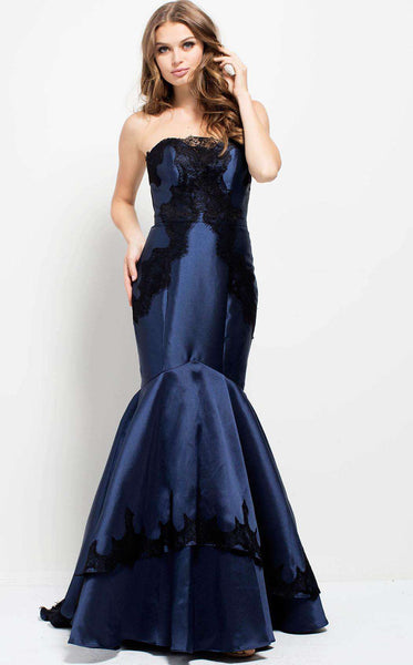 Jovani 51728 Navy/Black