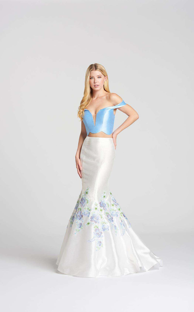 Ellie Wilde EW118041 Powder Blue/Ivory