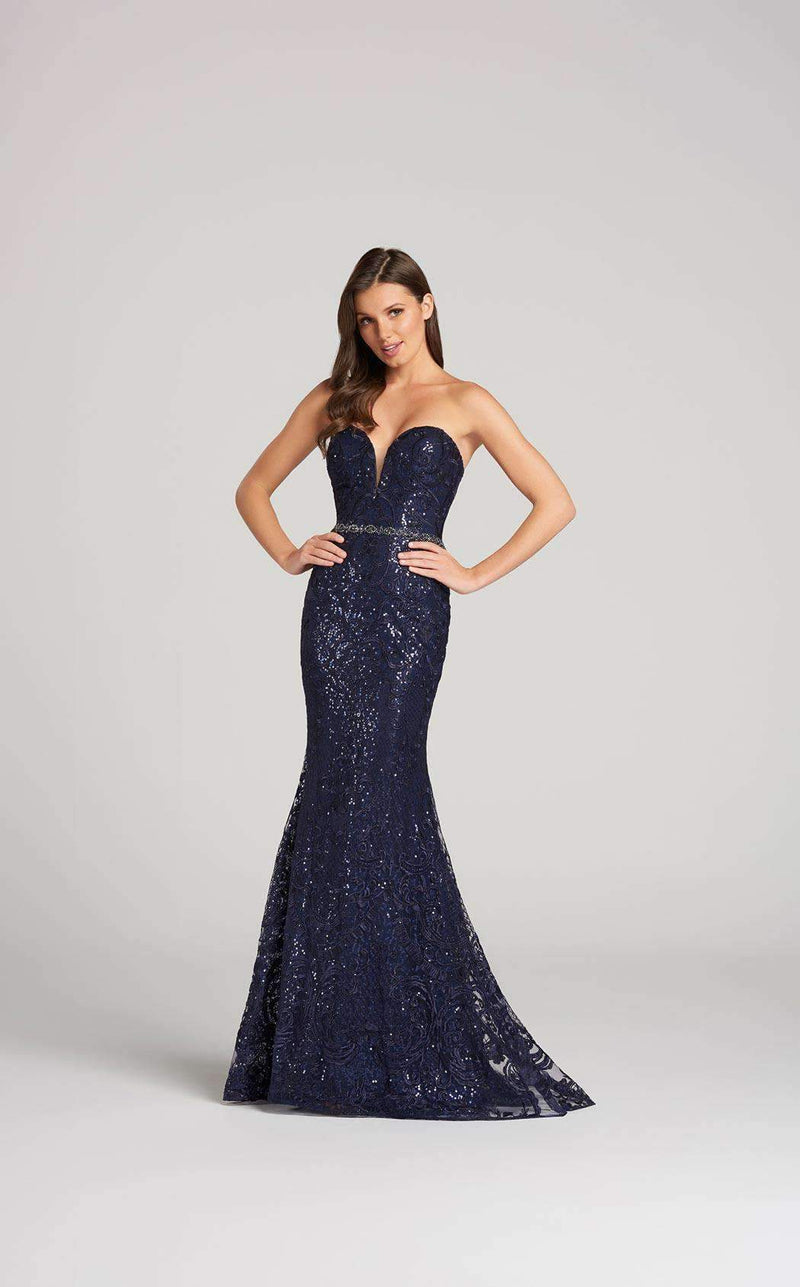 Ellie Wilde EW118171 Navy Blue