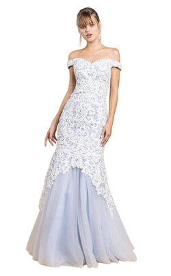 Andrea and Leo A0401 White/Periwinkle