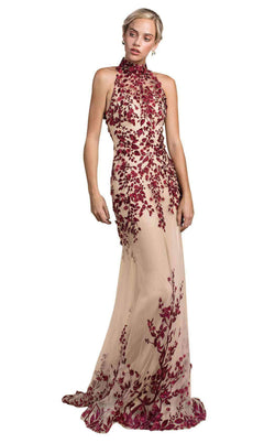 Andrea and Leo A0489 Burgundy/Nude