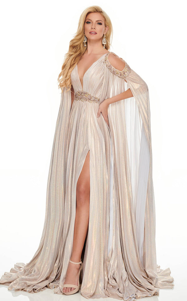 Rachel Allan 8437 Dress Blush-Light-Gold