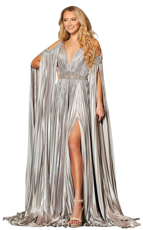 Rachel Allan 8437 Dress Gunmetal