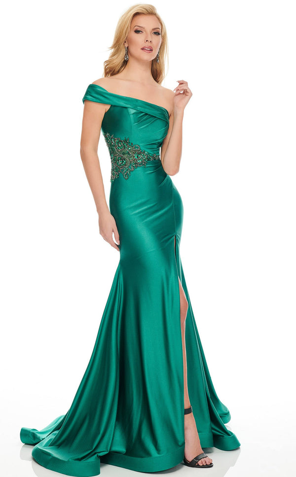 Rachel Allan 8440 Dress Hunter-Green