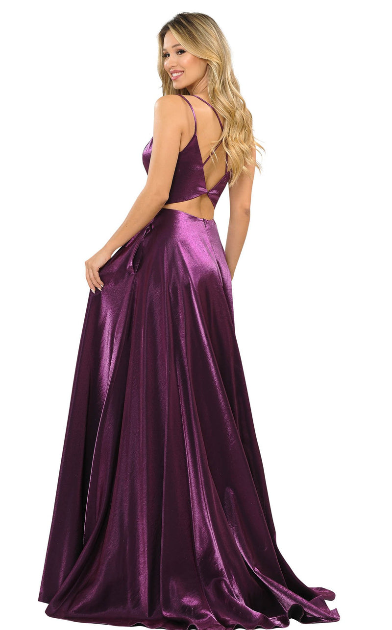 PolyUSA 8644 Dress Plum