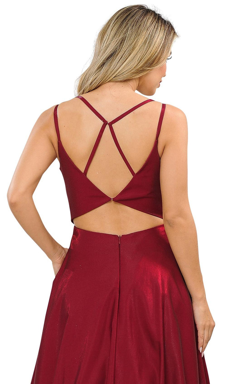 PolyUSA 8644 Dress Dark-Red