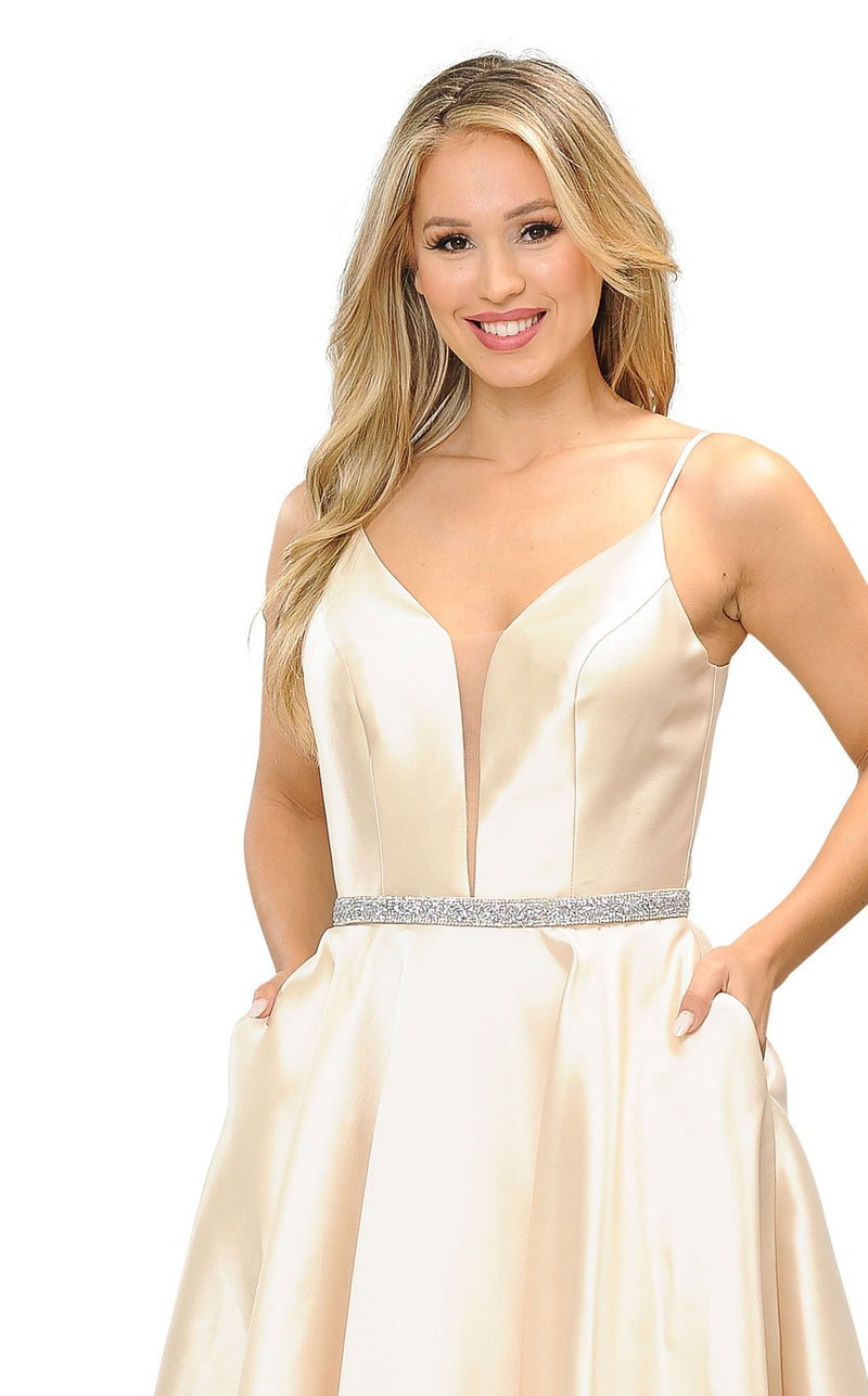 PolyUSA 8672 Dress Champagne