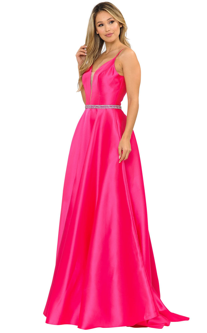 PolyUSA 8672 Dress Fuchsia