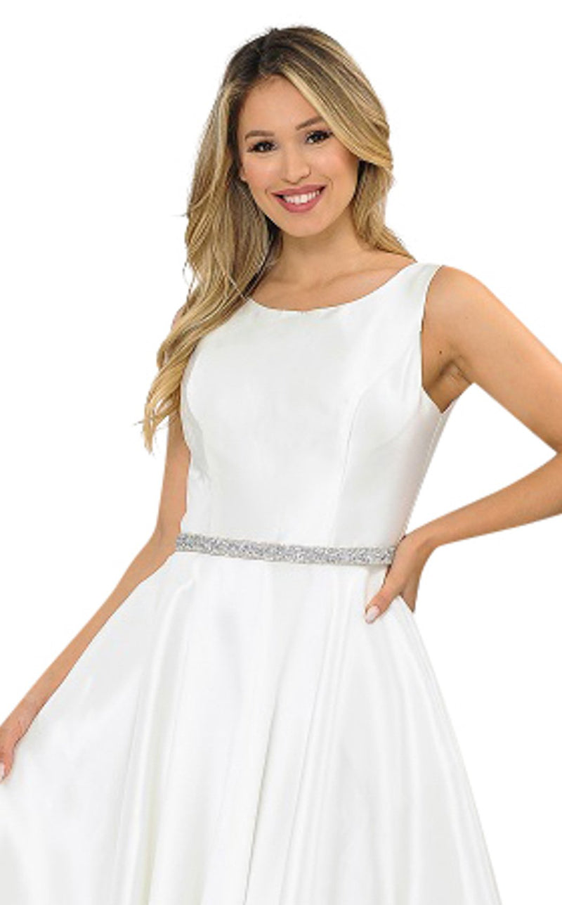 PolyUSA 8678 Dress Off-White