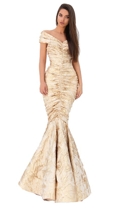 Tarik Ediz 93811 Dress Gold