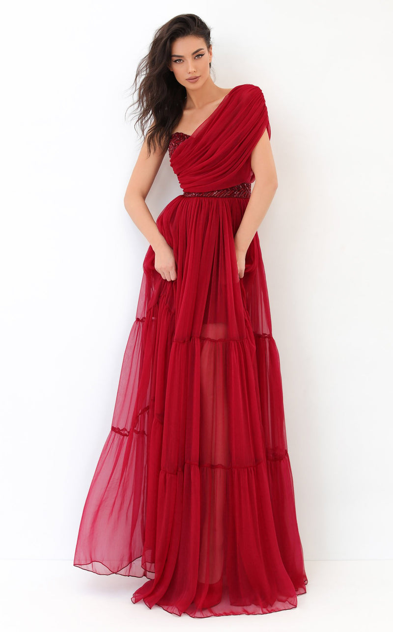 Tarik Ediz 93814 Dress Red