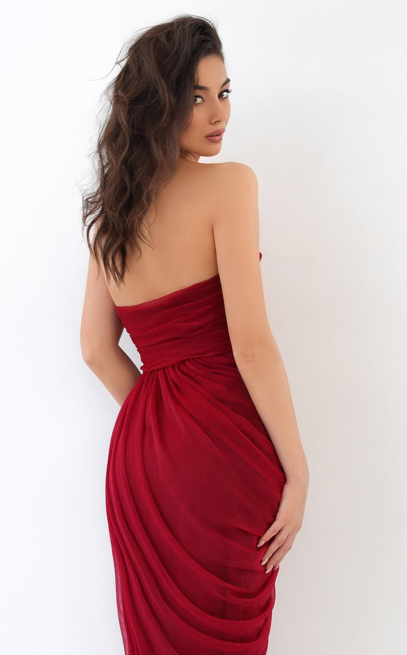 Tarik Ediz 93838 Dress Red