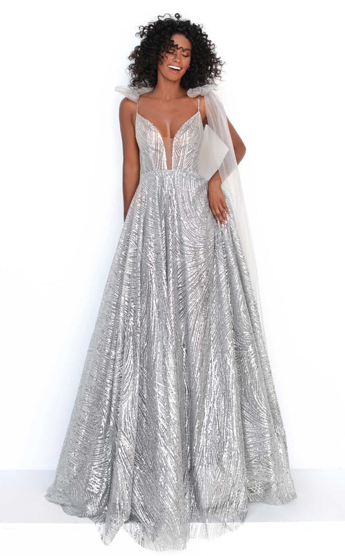 Tarik Ediz 93918 Dress Grey
