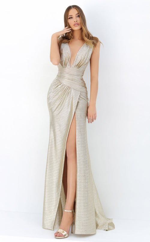 Tarik Ediz 93922 Dress Gold