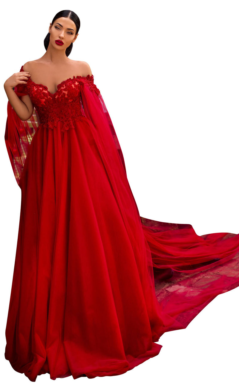 Tarik Ediz 93926 Dress Red