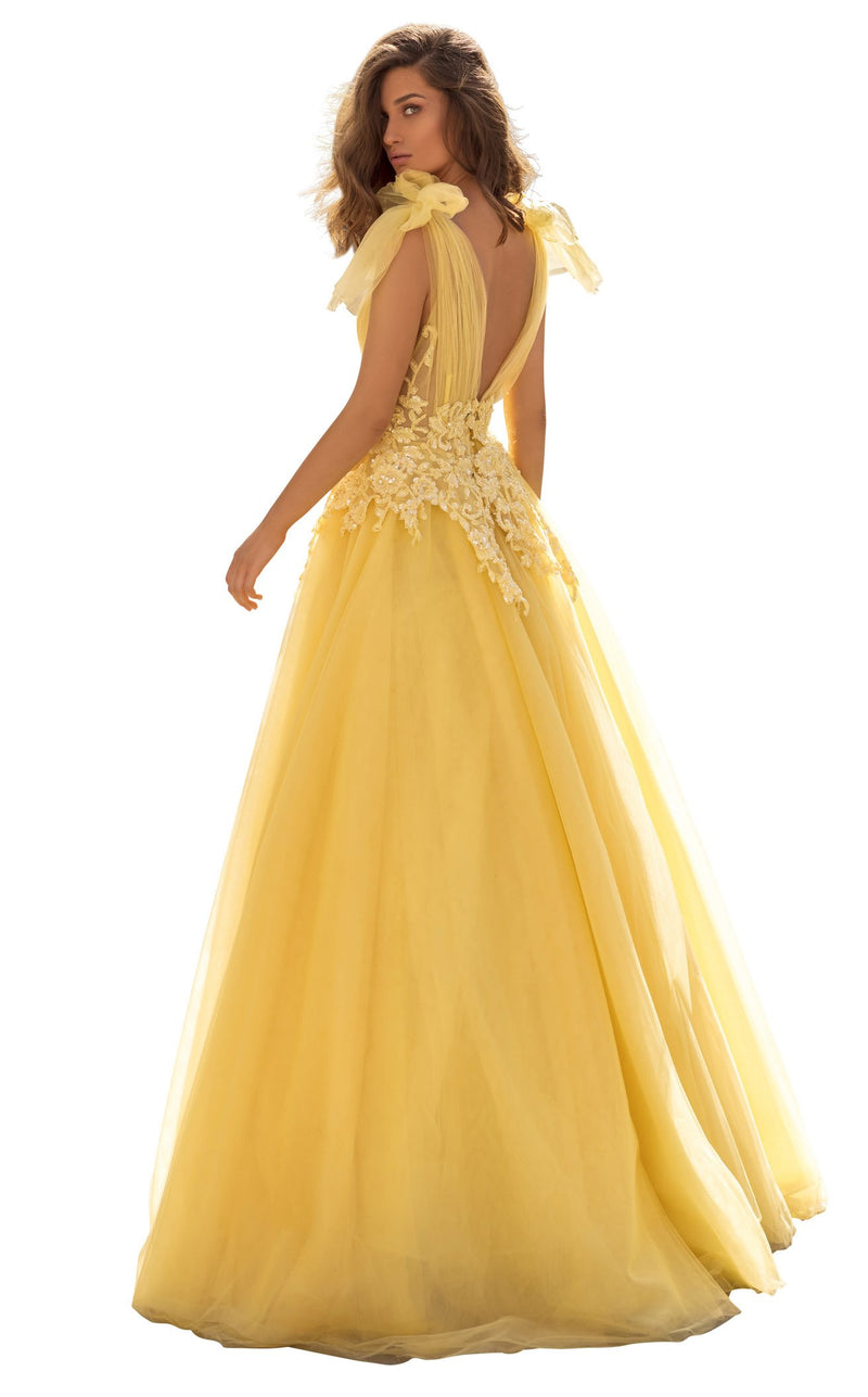 Tarik Ediz 93927 Dress Yellow