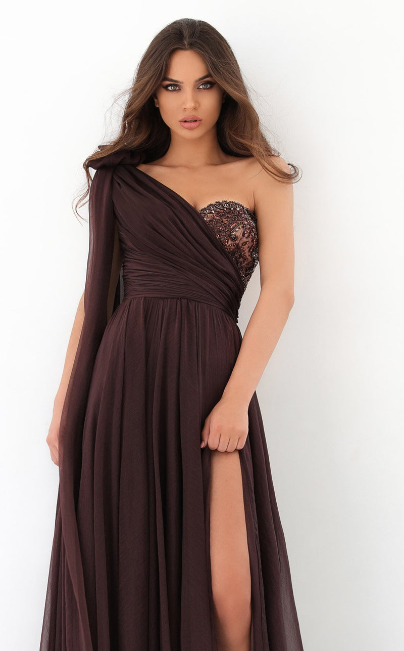 Tarik Ediz 93932 Dress Brown