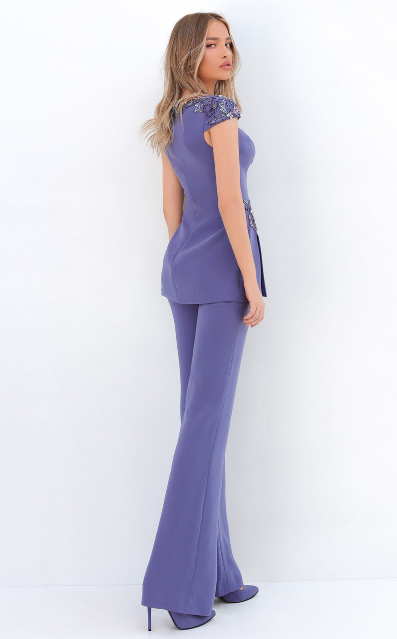 Tarik Ediz 93934 Jumpsuit Ice-Blue